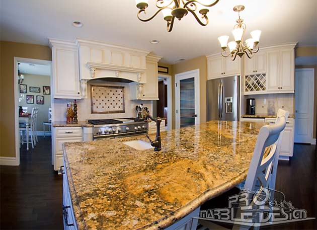 custom marble kitchen island